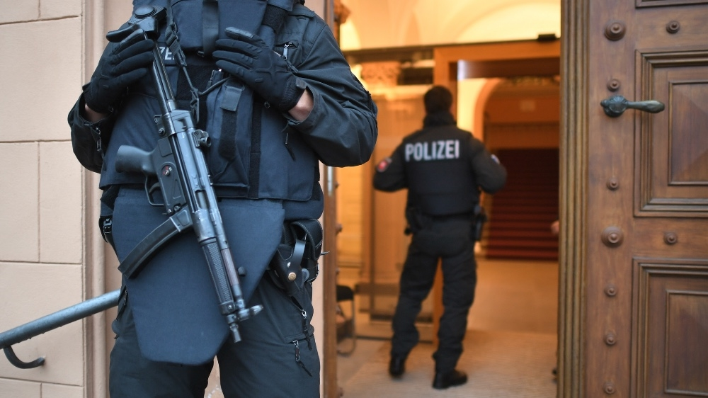 German police found sharing racist messages in group chats