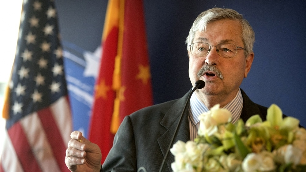 Outgoing US ambassador to China will help Republican campaigns