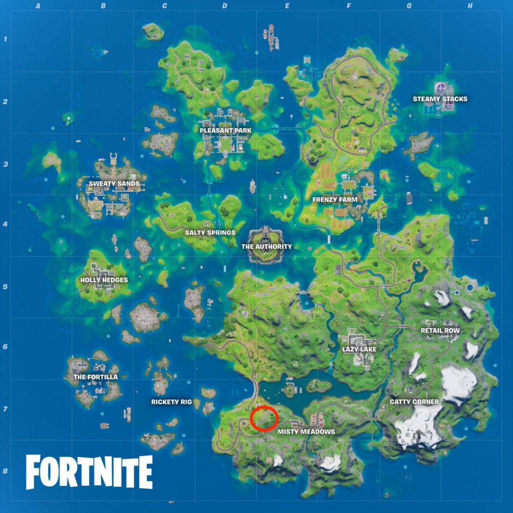 Fortnite Panther's Prowl location map