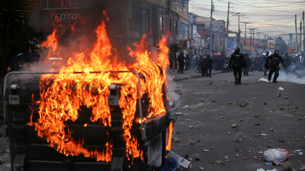 Police killing sparks riots across Colombia that leave seven dead