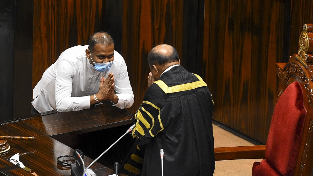 Premalal Jayasekara: Sri Lanka's death-row MP takes oath