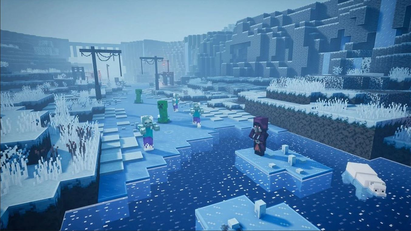 Minecraft Dungeons' Creeping Winter DLC Update Is Now Live: Changing The Game Considerably