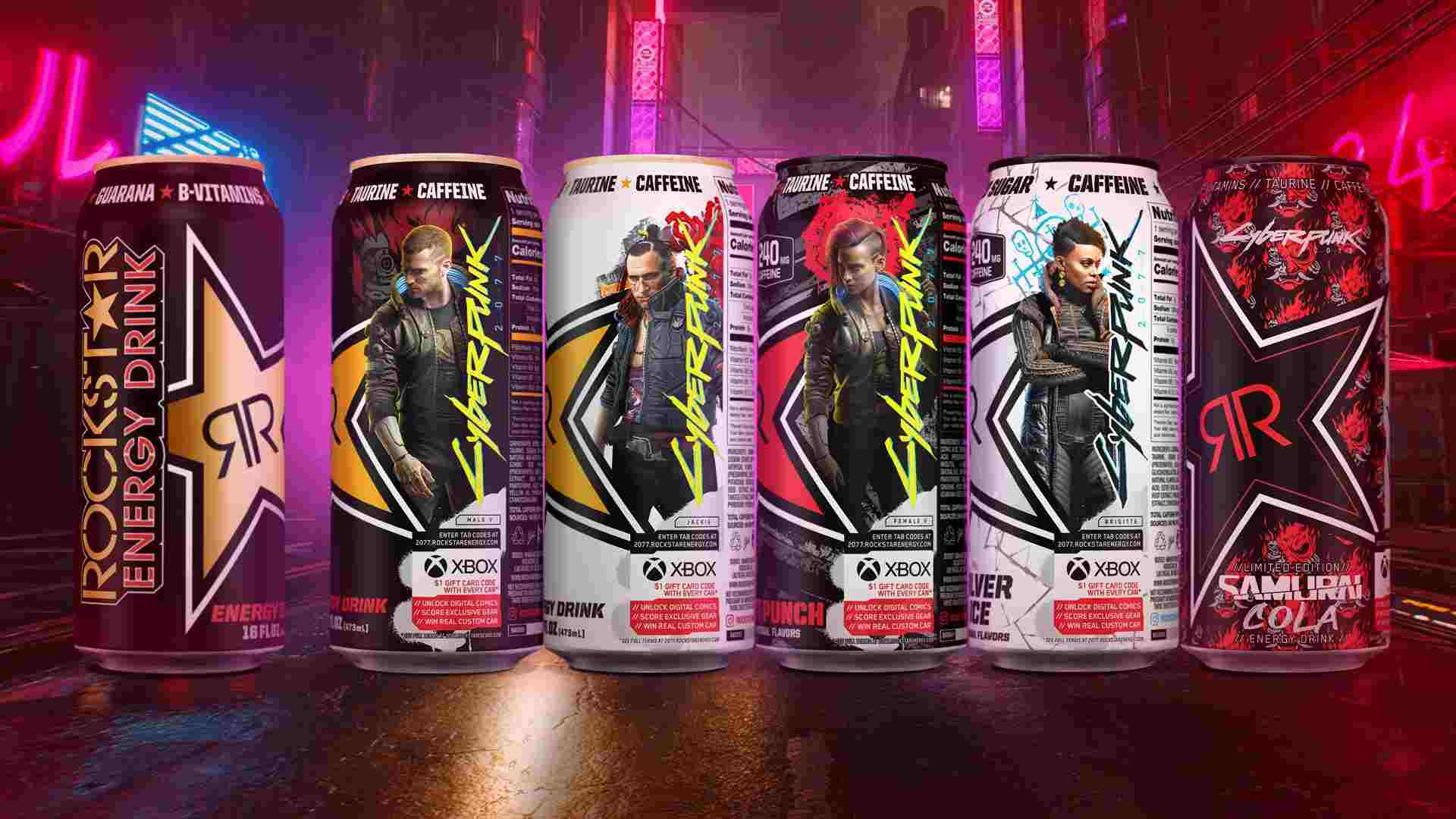 Cyberpunk 2077 Energy Drinks Will Come With Xbox Credit And Contest Entries For Cool Prizes
