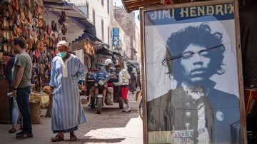 In Pictures: Morocco village riffs on Jimi Hendrix legends, myths