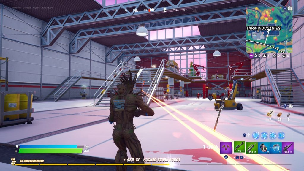 Fortnite Week 4 Hacking Stark Robots Hangar Location