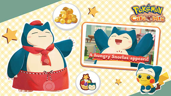 Pokemon Cafe Mix Update Adds New Team Mode And A Very Hungry Snorlax