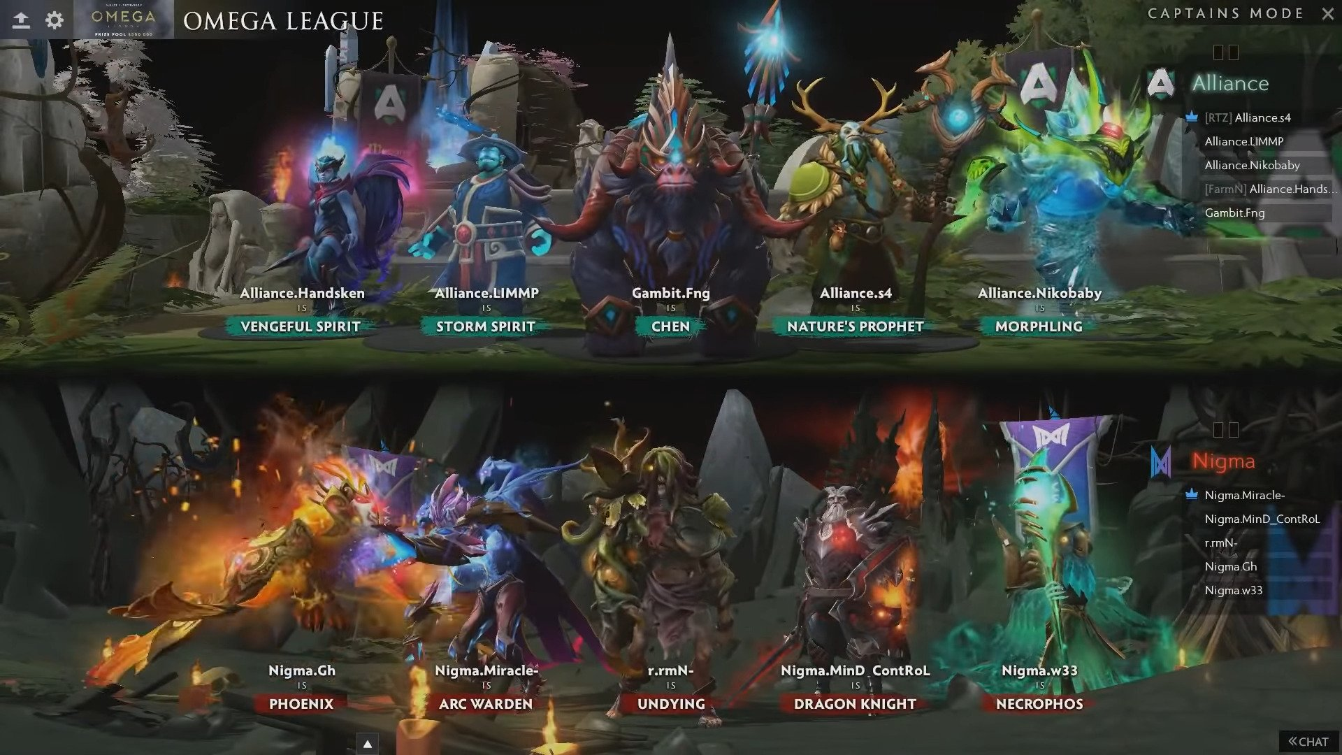 Nigma Advances In OMEGA League Over Alliance In An Action-packed Series