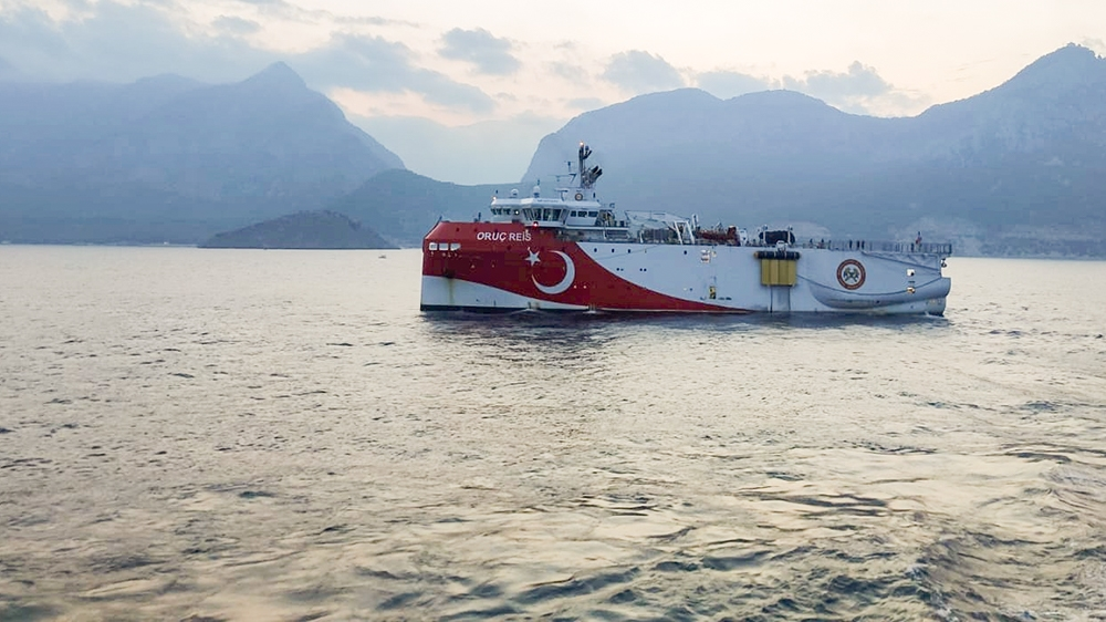 Research vessel at heart of east Med row back near Turkey shore