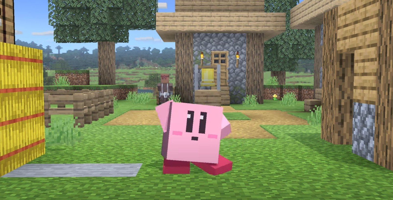 Kirby Will Turn Into A Block If He Inhales Steve Or Alex From Minecraft In Super Smash Bros. Ultimate DLC
