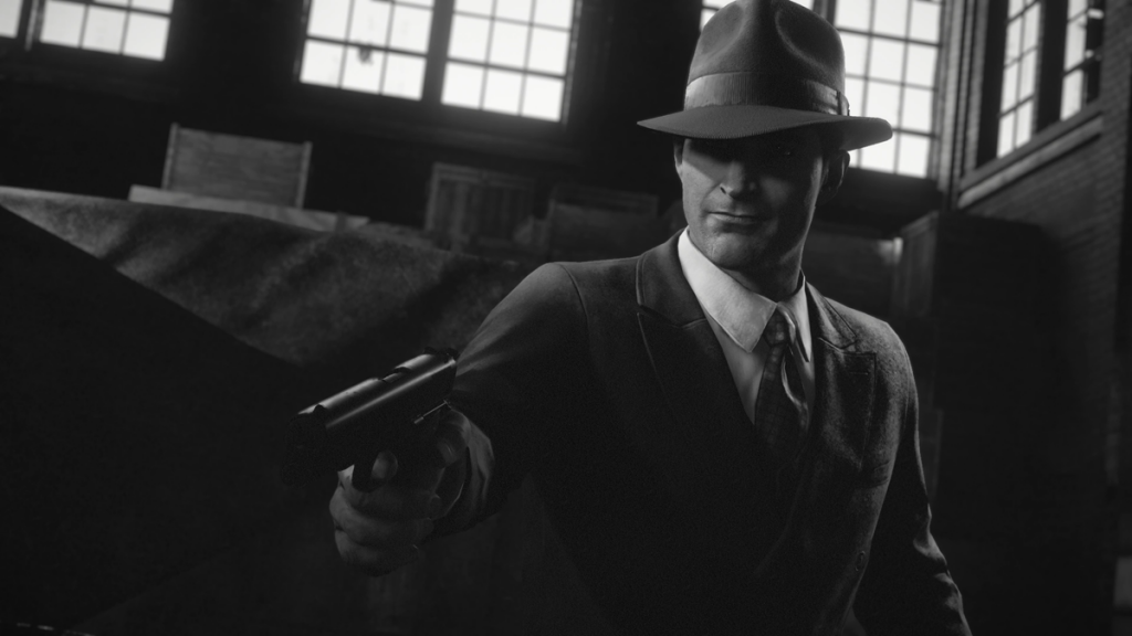 Mafia: Definitive Edition with Noir Mode turned on