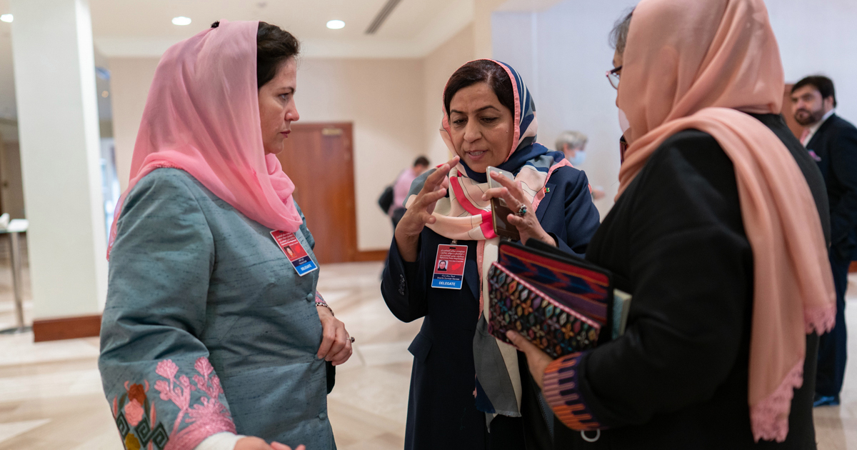 Who are the Afghan women negotiating peace with the Taliban?