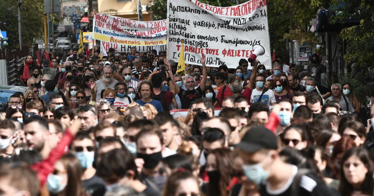 In Pictures: The day Golden Dawn was convicted