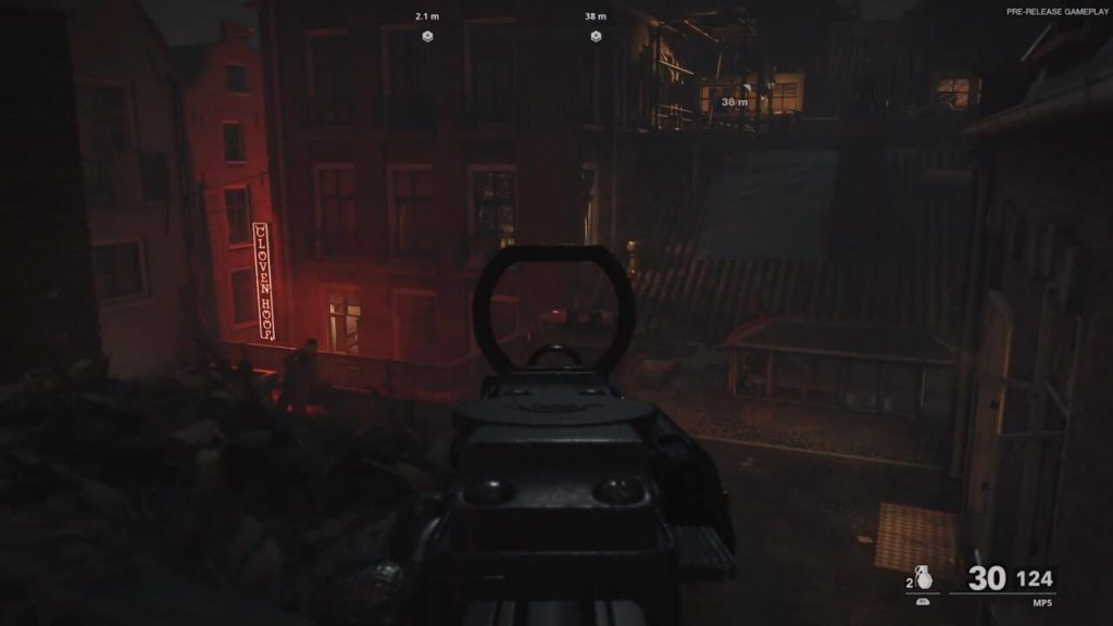 When I fire an MP5, the DualSense vibrates to the fire rate's specific rhythm, and when you swap to a burst fire weapon, that rhythm changes.