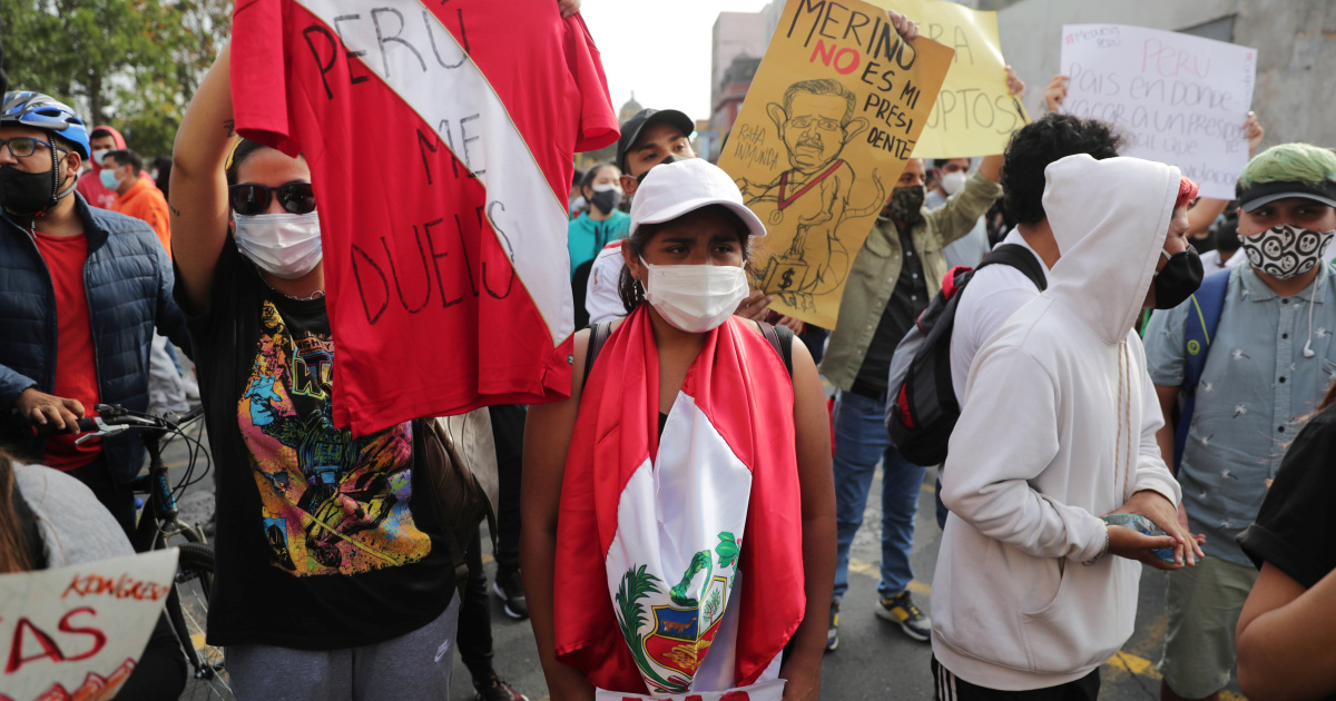 'I'm so tired of this': Peru youth vow to remain on the streets