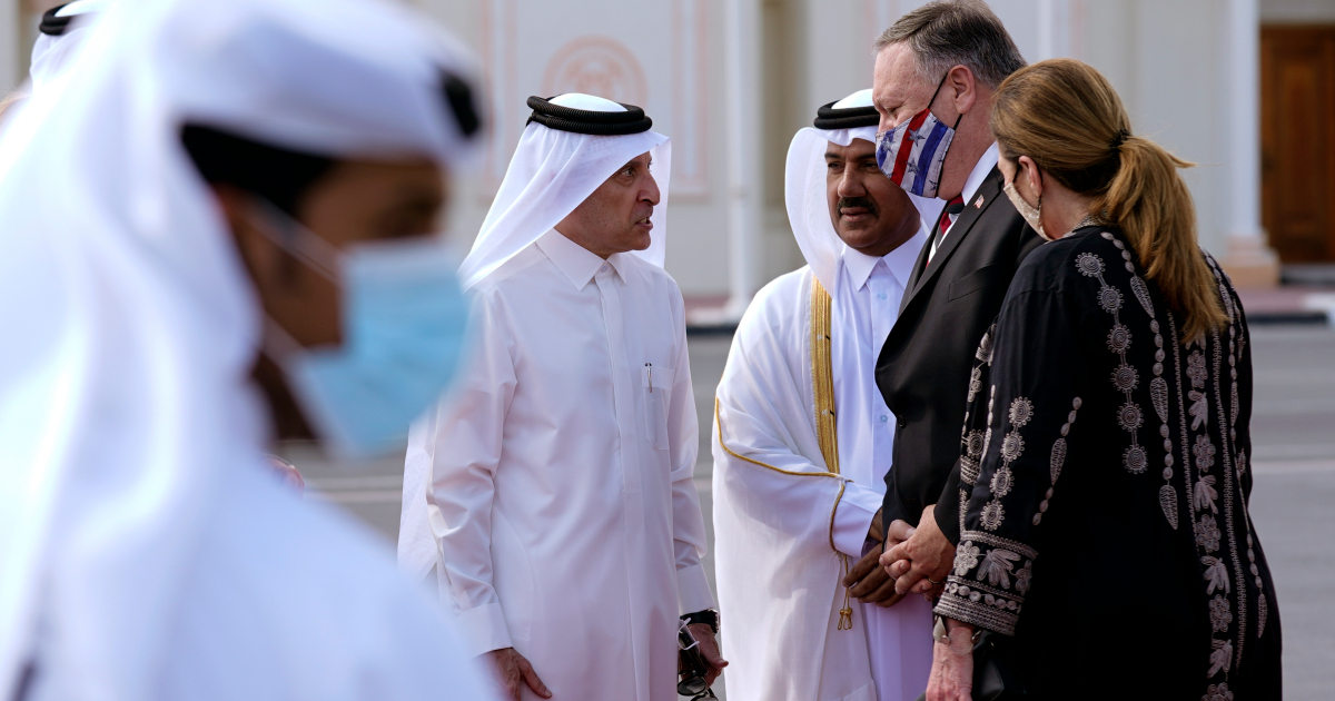 Mike Pompeo meets Afghan gov't, Taliban negotiators in Qatar