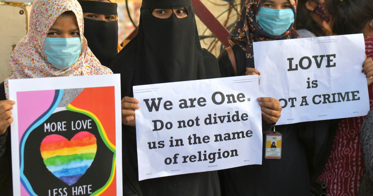 India police stop interfaith marriage citing 'love jihad' law