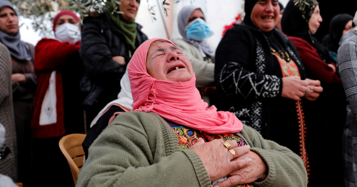 'May God give us patience': Palestinians mourn child killed
