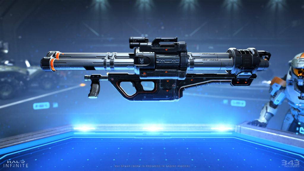 The new rocket launcher in Halo Infinite