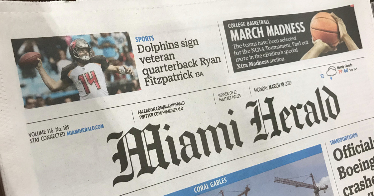 US newspaper Miami Herald hires its first Black executive editor
