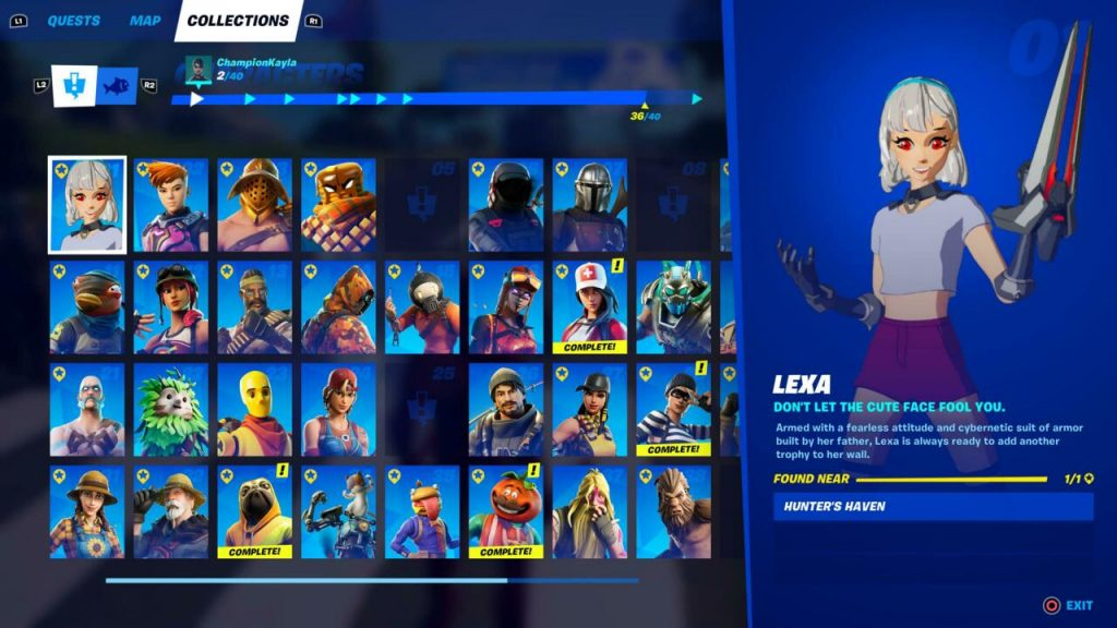 Fortnite's Collection Tab
