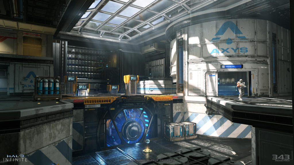 First look at a Halo Infinite multiplayer map