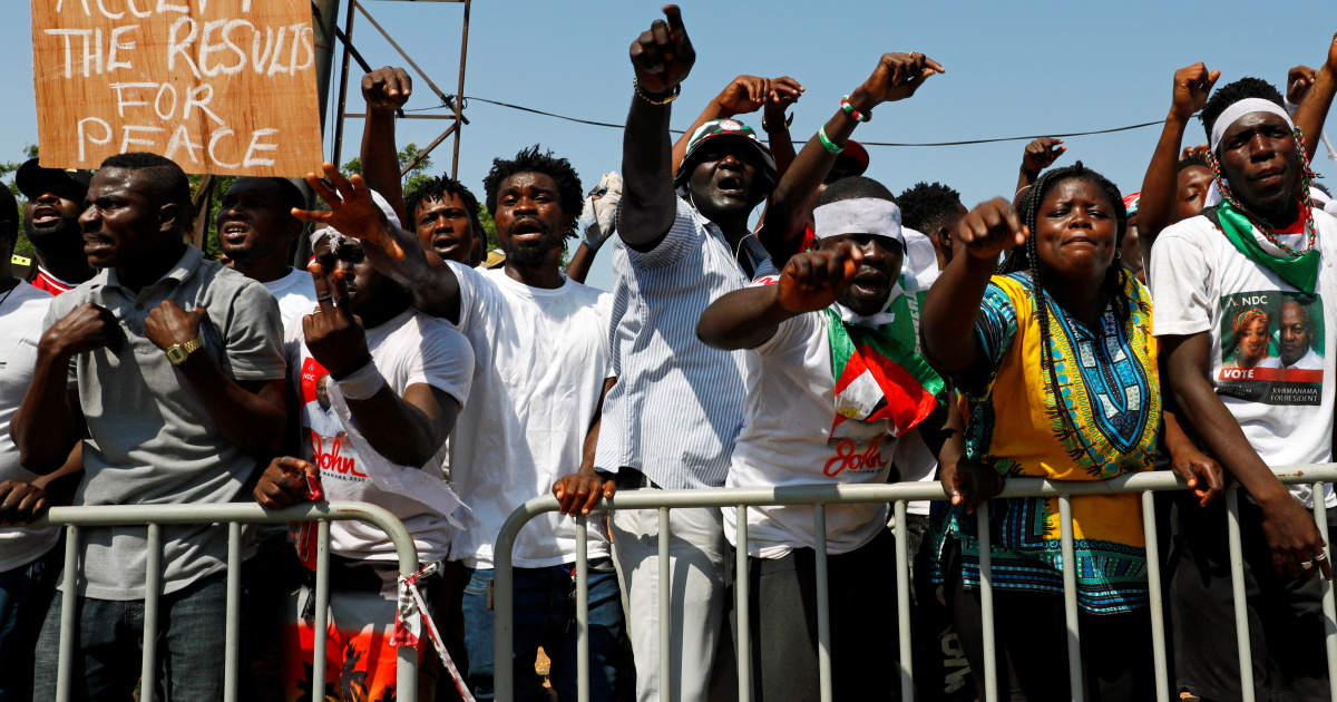 Ghana's opposition rejects election results